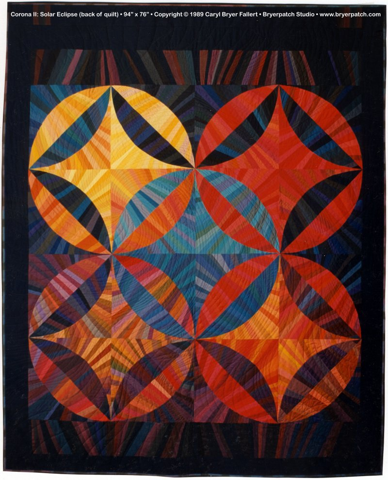 Corona 2: Solar Eclipse, © 1989 AQS Best of Show quilt by Caryl ... : robbing peter to pay paul quilt - Adamdwight.com